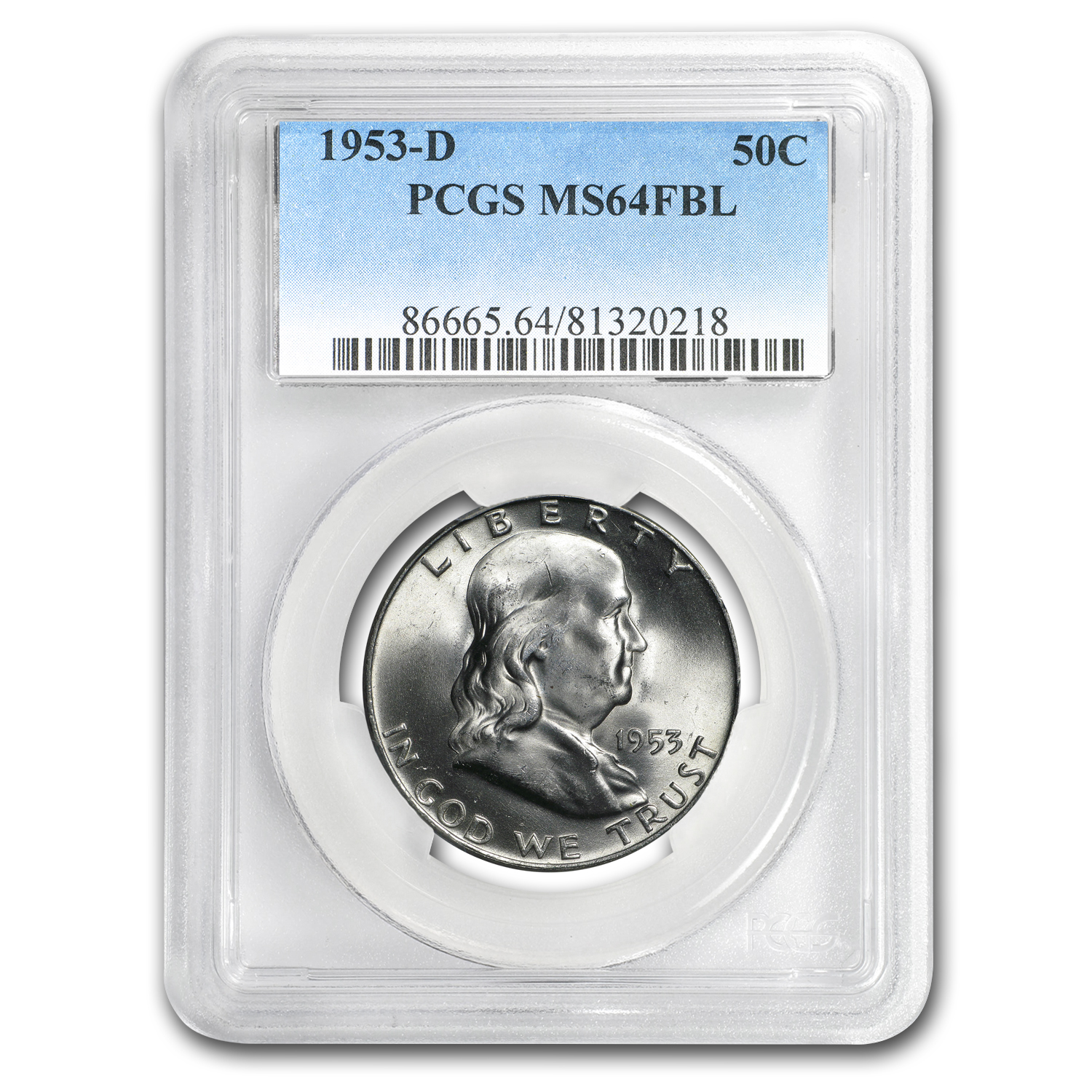 1953-D Franklin Half Dollar MS-64 PCGS (FBL)
