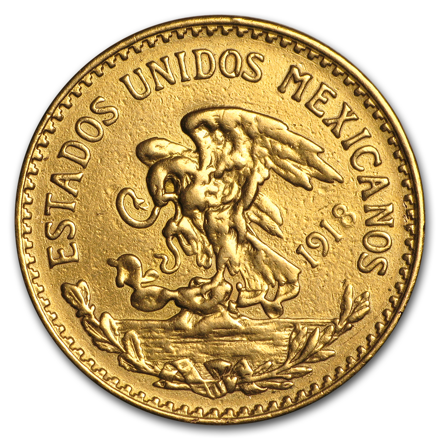 1917-1959 Mexican Gold 20 Pesos (Damaged)