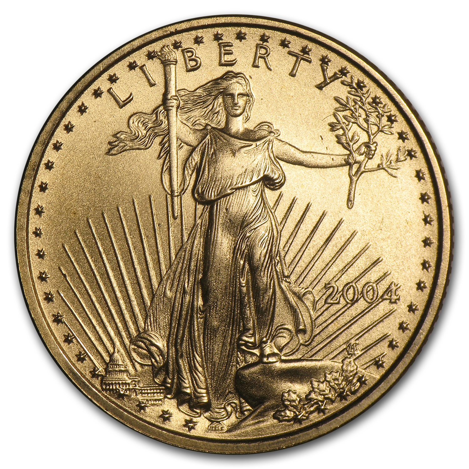 2004 1/4 oz Gold American Eagle (BU)
