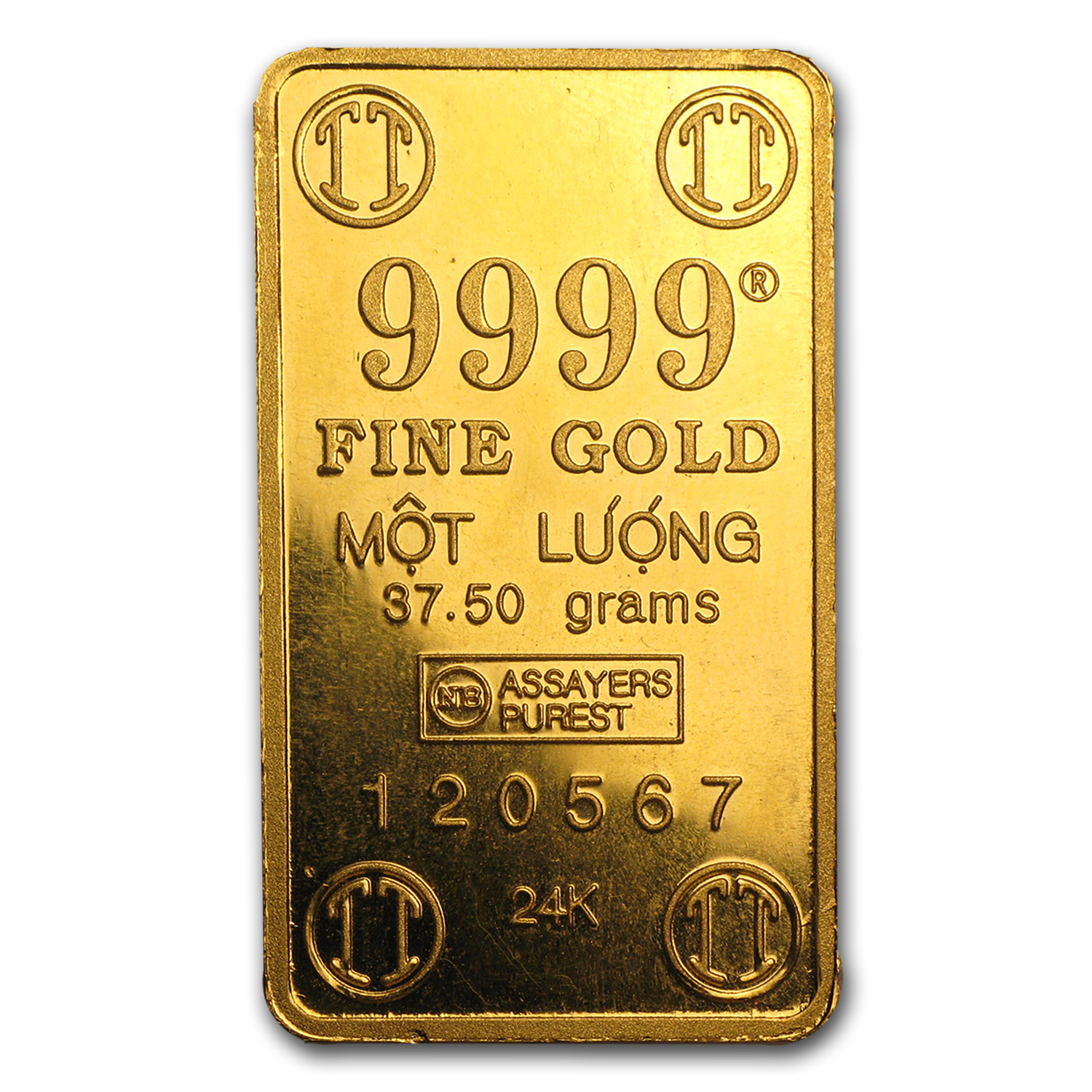 37.5 gram Gold Bar - Secondary Market