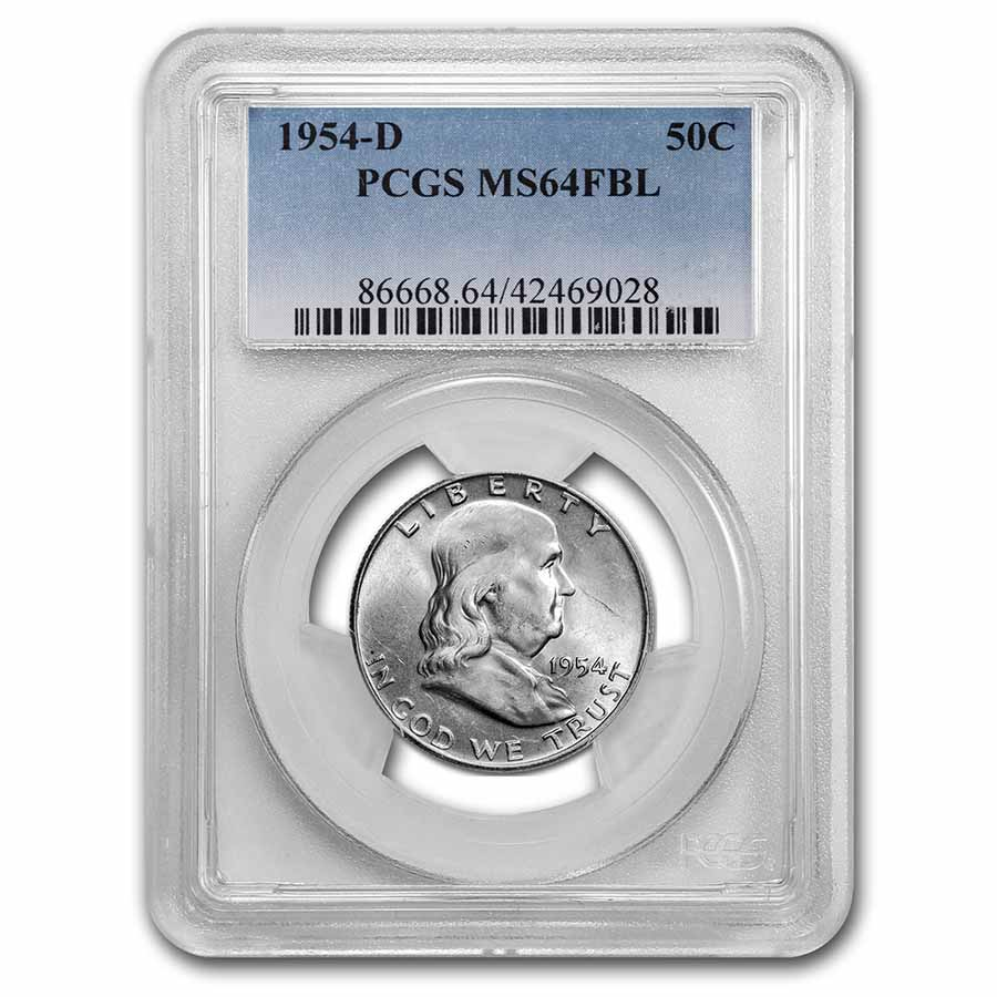 1954-D Franklin Half Dollar MS-64 PCGS (FBL)