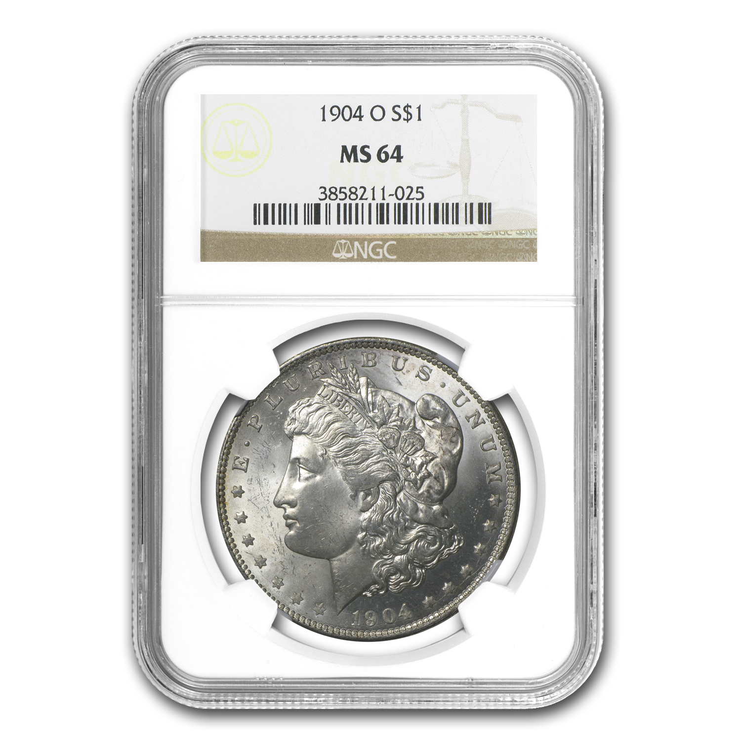 1904-O Morgan Dollar MS-64 NGC