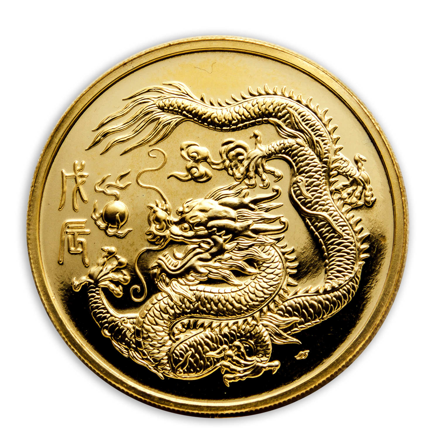 1988 1 oz Gold Singapore 100 Singold Dragon Proof