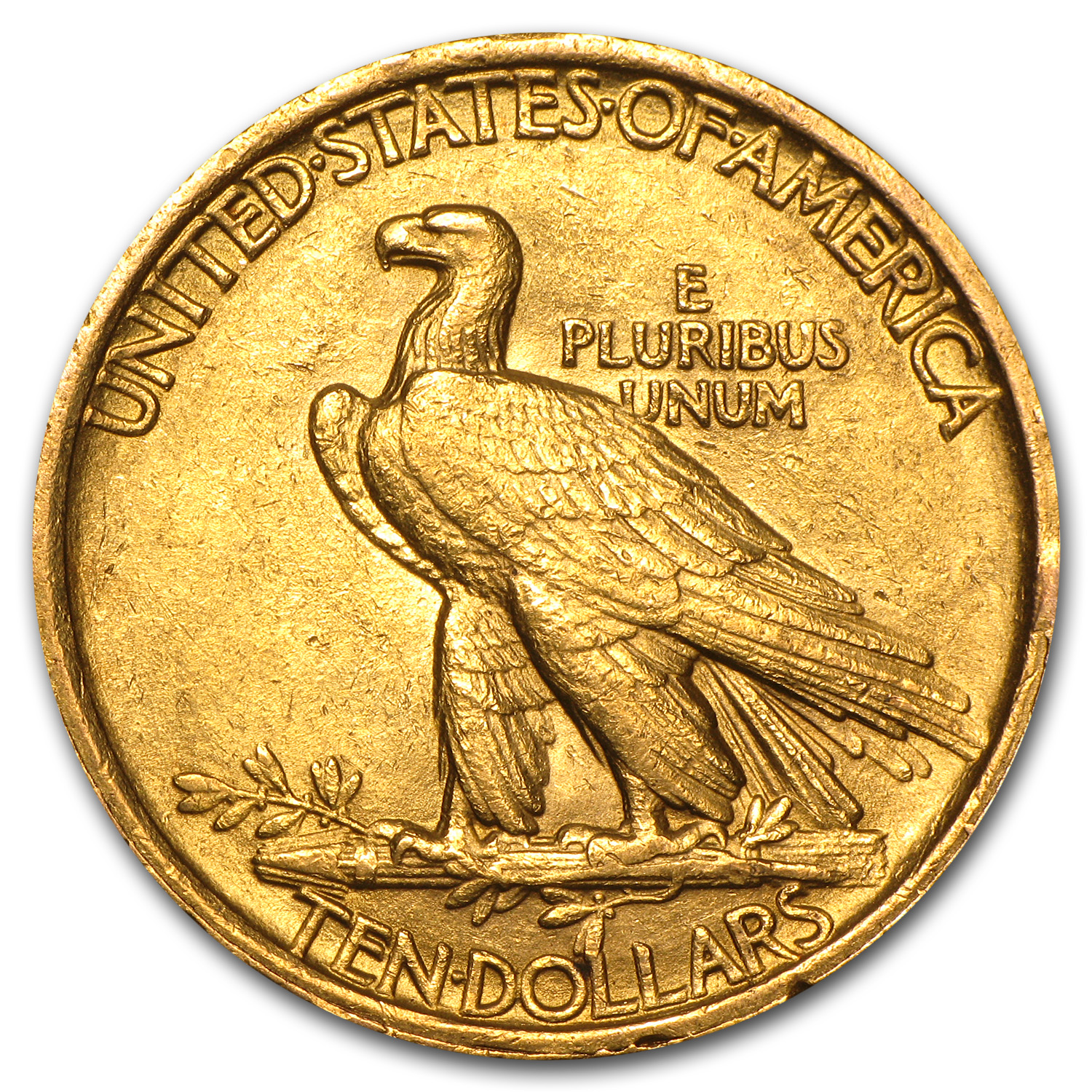 1907 $10 Indian Gold Eagle Almost Uncirculated