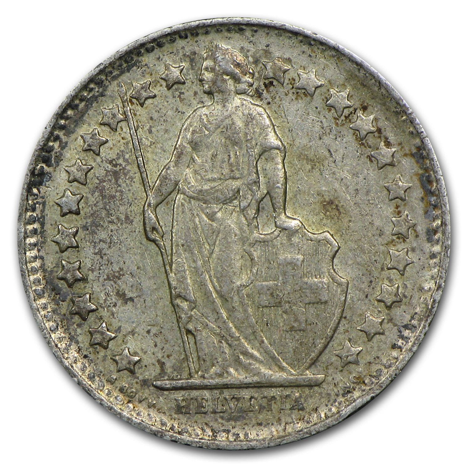 Switzerland Silver 1/2 Franc Avg Circ (Random Dates)