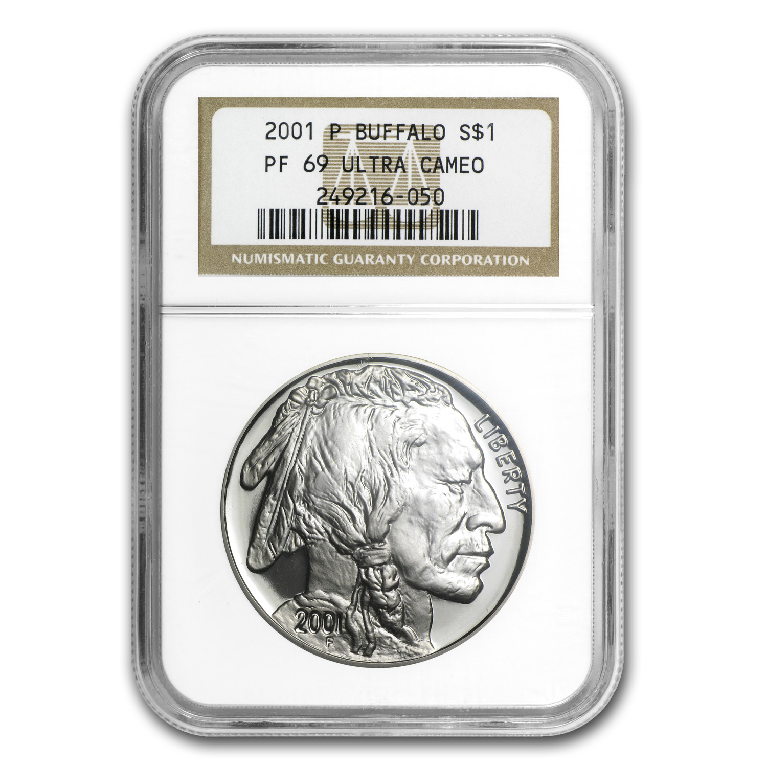 2001-P Buffalo $1 Silver Commemorative PF-69 NGC
