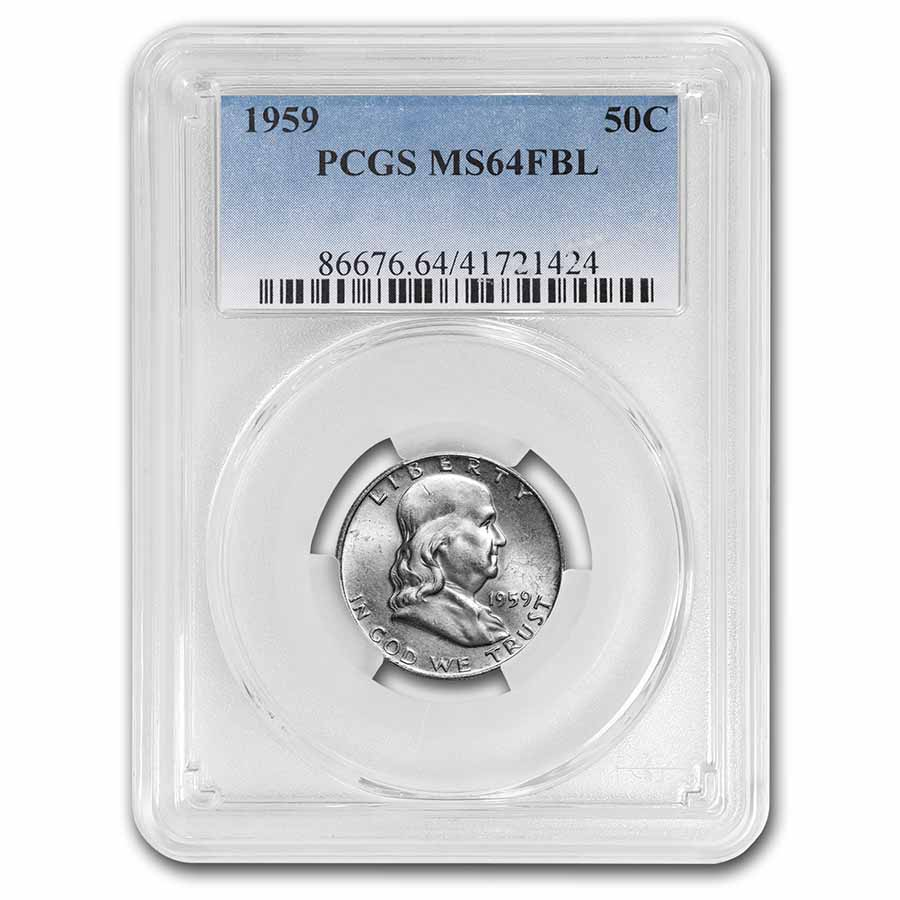 1959 Franklin Half Dollar MS-64 PCGS (FBL)