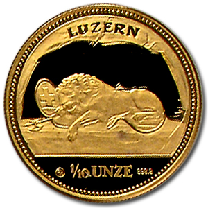 1988 Switzerland 4-Coin Gold Proof set