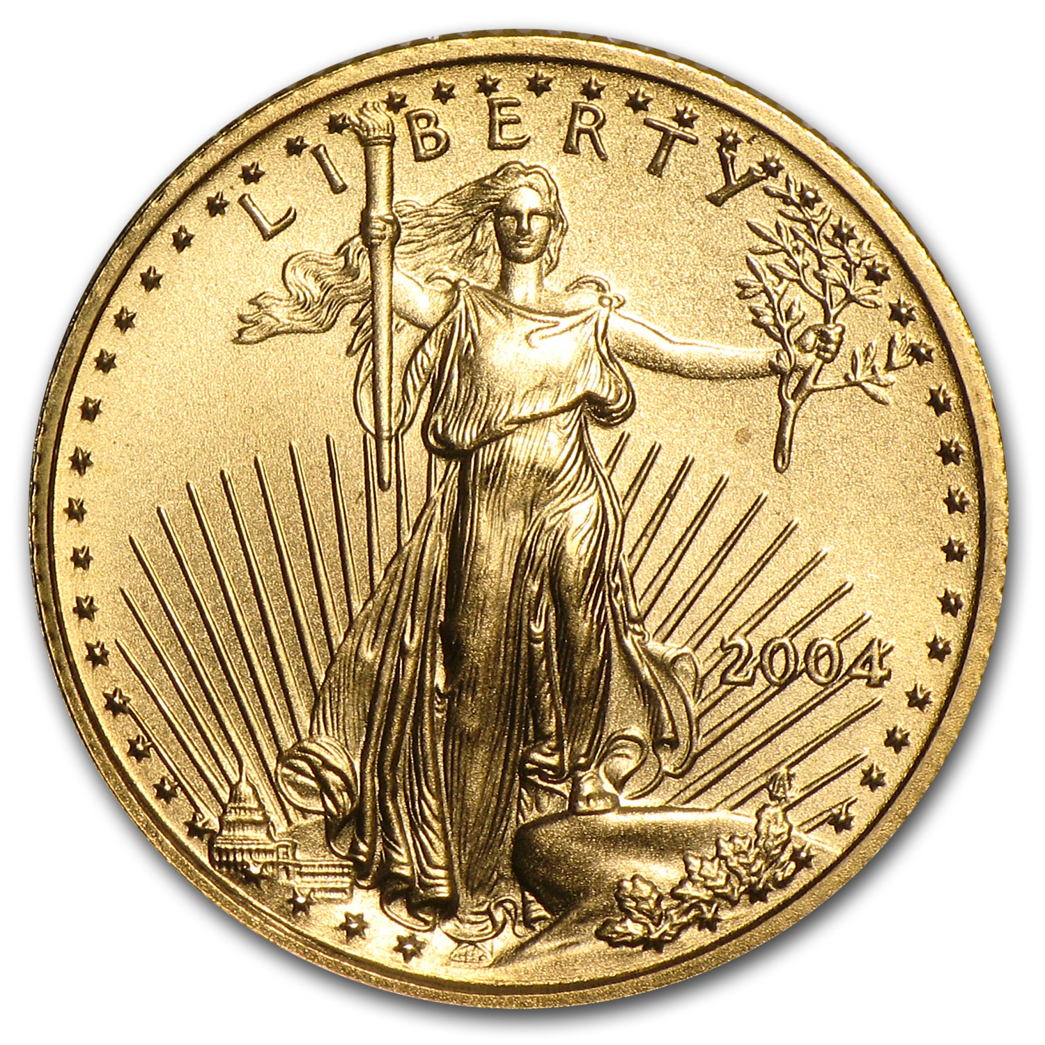 2004 1/10 oz Gold American Eagle BU