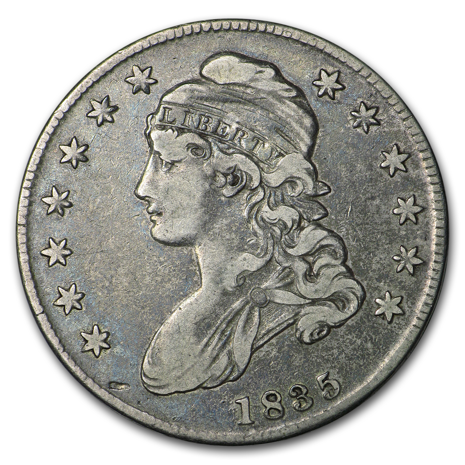 1835 Capped Bust Half Dollar VF