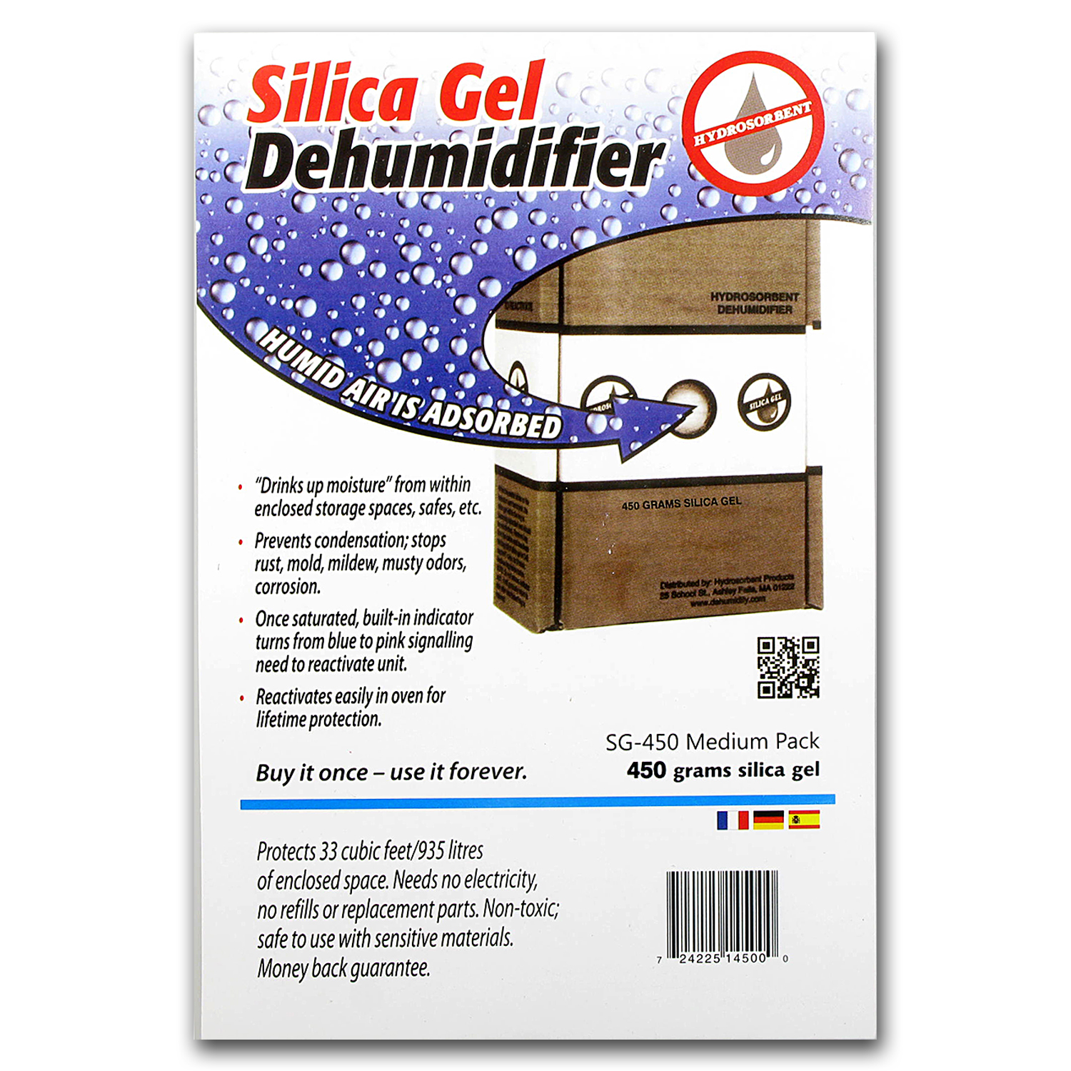 Silica Gel - Dehumidifier Crystals (450 Gram Box)