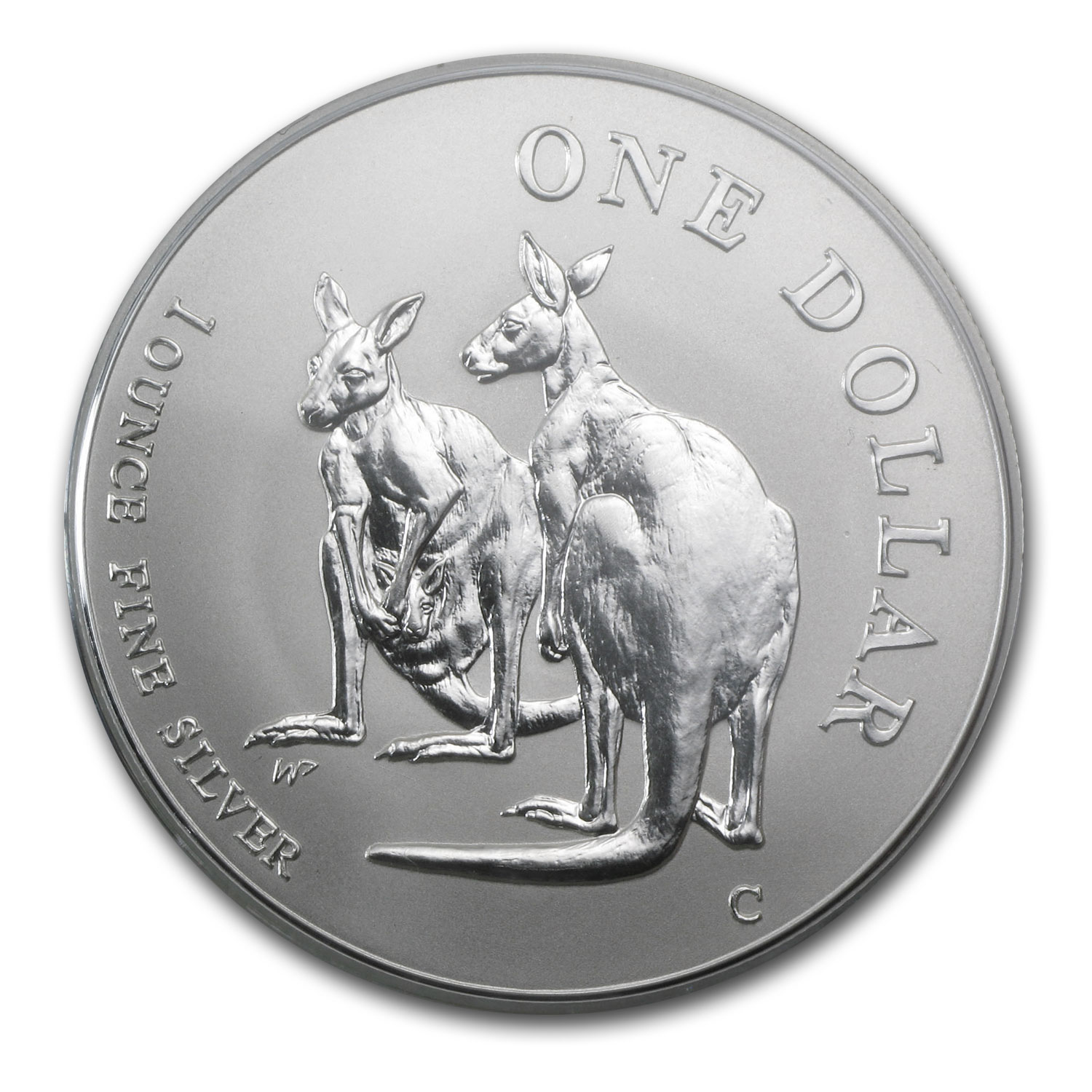 1999 1 oz Australian Silver Kangaroo (In Display Card)