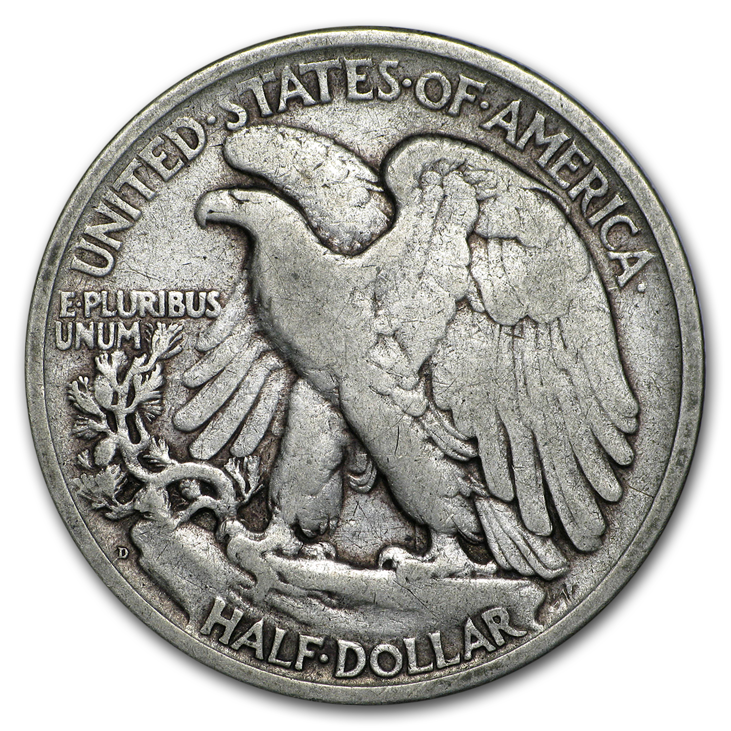 1917-D Rev Walking Liberty Half Dollar Fine
