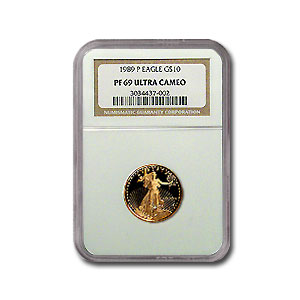 1989-P 1/4 oz Proof Gold American Eagle PF-69 NGC