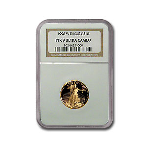 1996-W 1/4 oz Proof Gold American Eagle PF-69 NGC