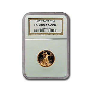 2000-W 1/4 oz Proof Gold American Eagle PF-69 NGC