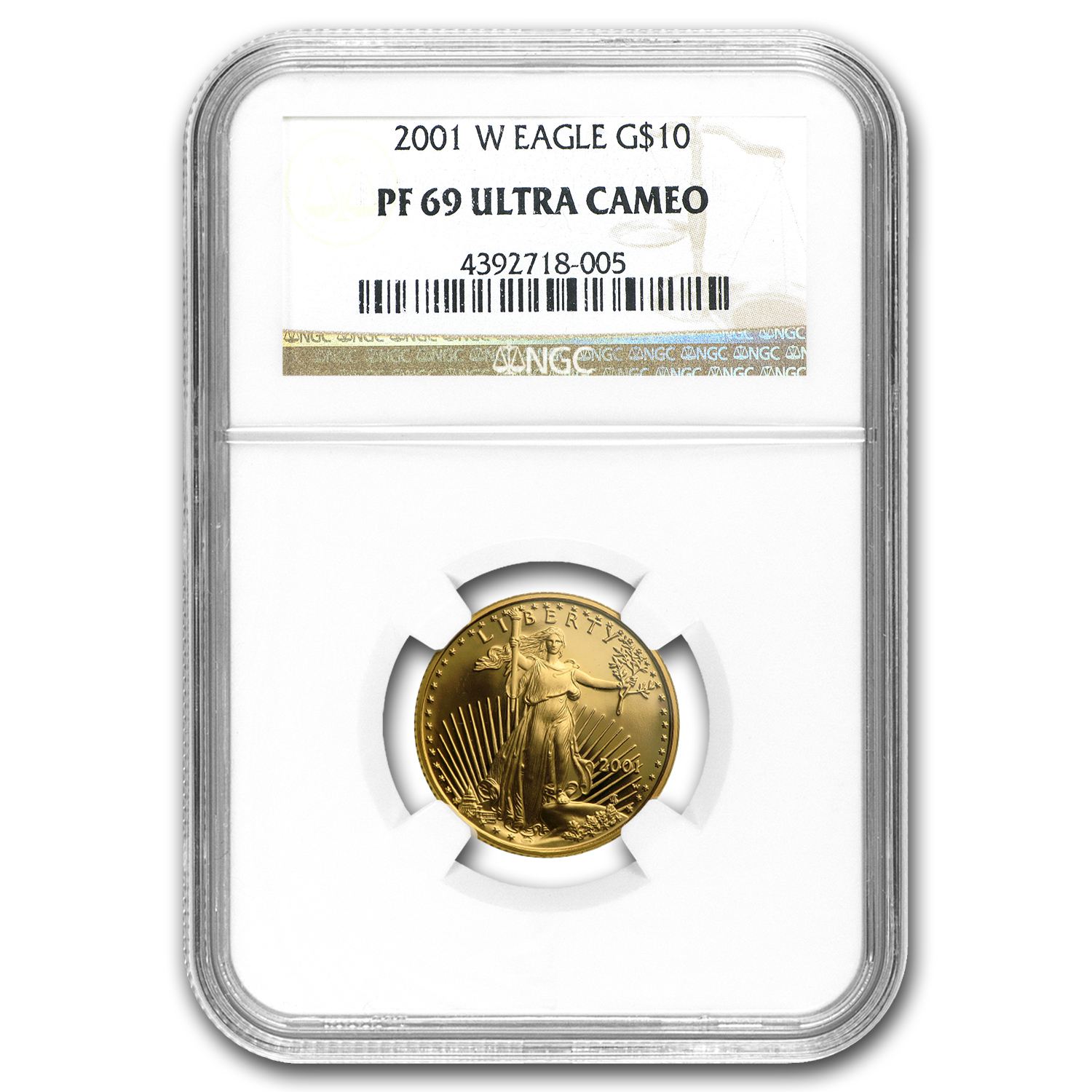 2001-W 1/4 oz Proof Gold American Eagle PF-69 NGC