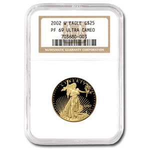 2002-W 1/2 oz Proof Gold American Eagle PF-69 NGC