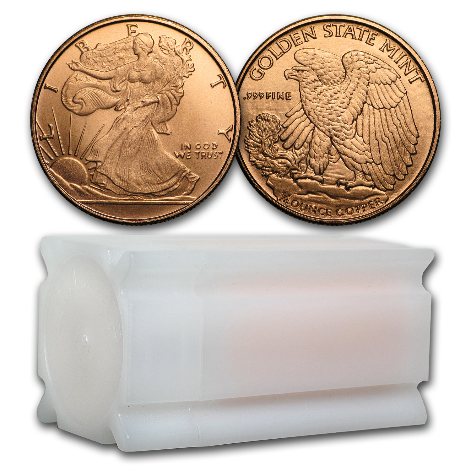 1/4 oz Copper Round - Walking Liberty (20 count tube)