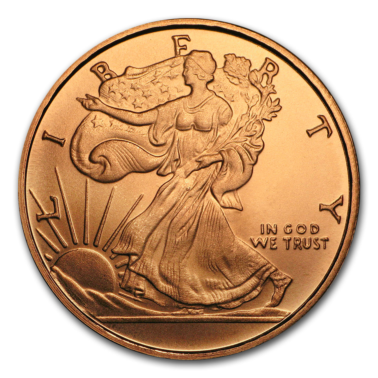 1/2 oz Copper Round - Walking Liberty (20 count tube)