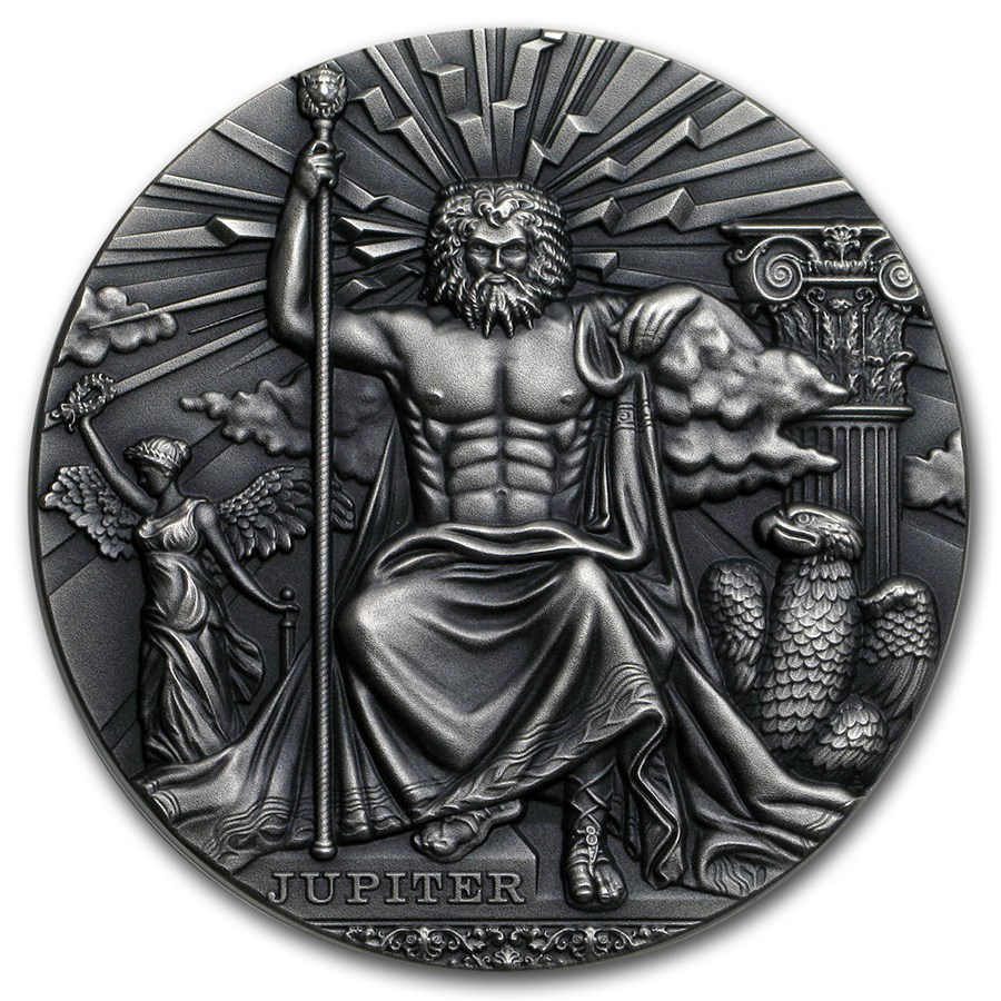 2016 Niue 2 Oz Silver Antique Roman Gods Jupiter