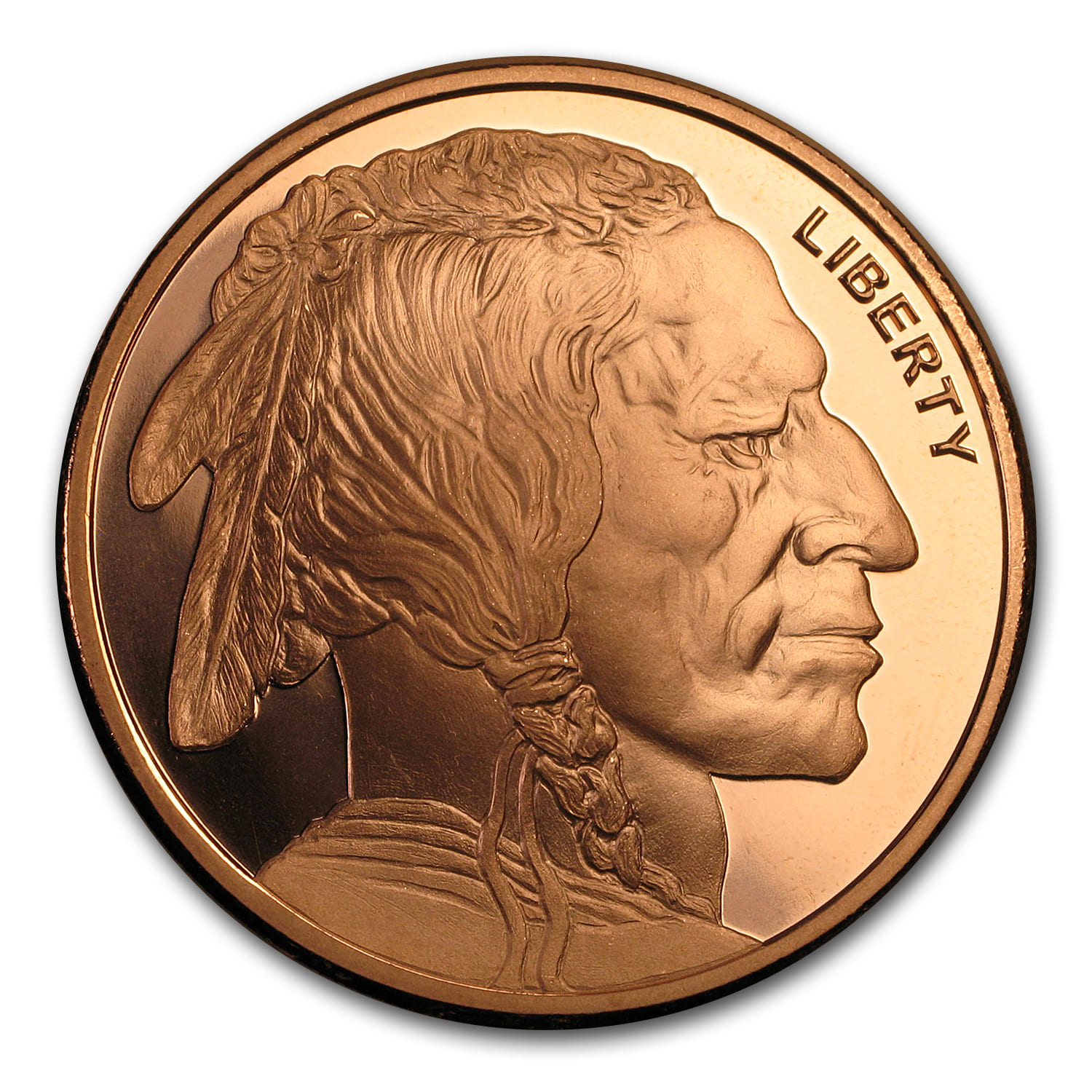 2 oz Copper Round - Buffalo