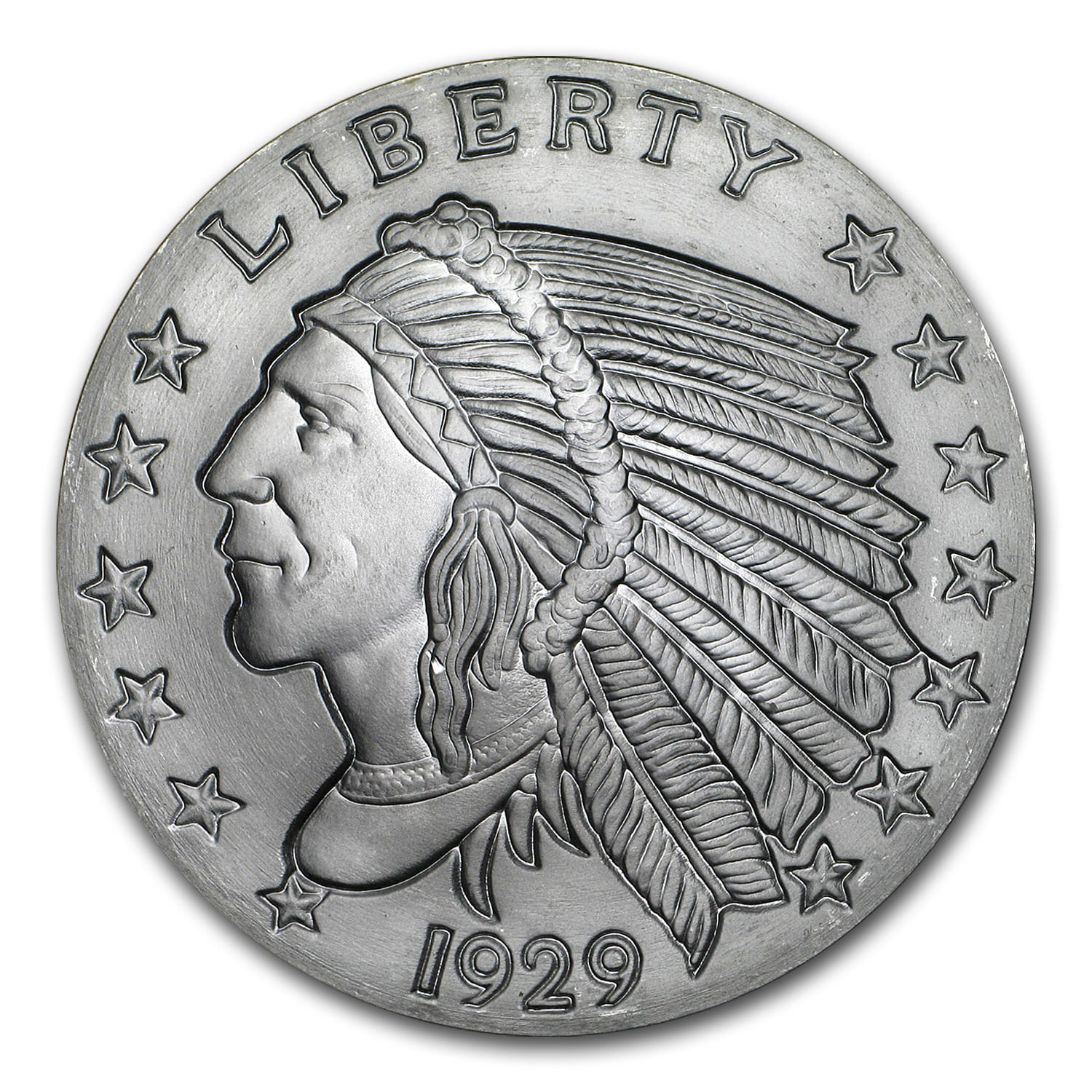 2 oz Silver Round - Incuse Indian