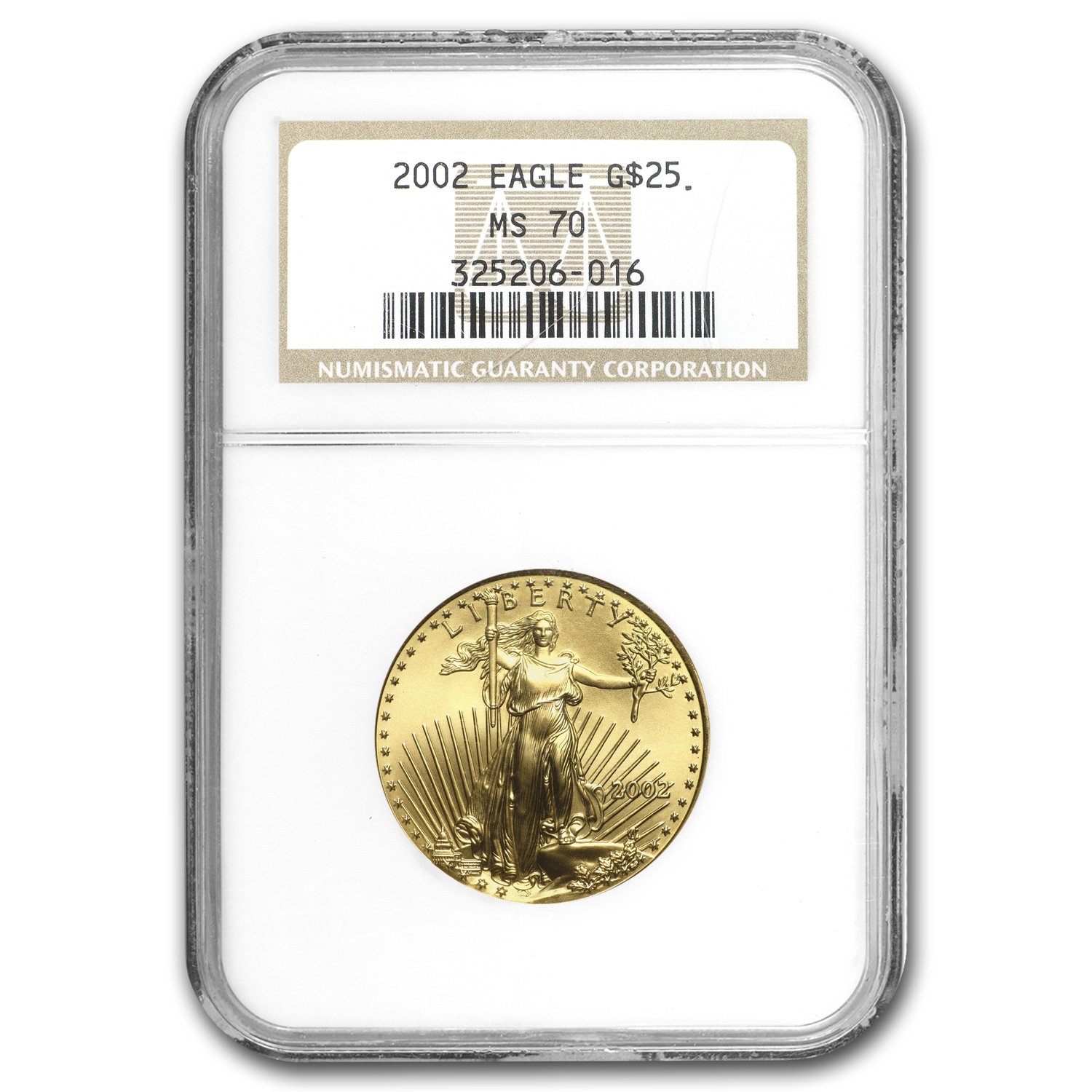 2002 1/2 oz Gold American Eagle MS-70 NGC