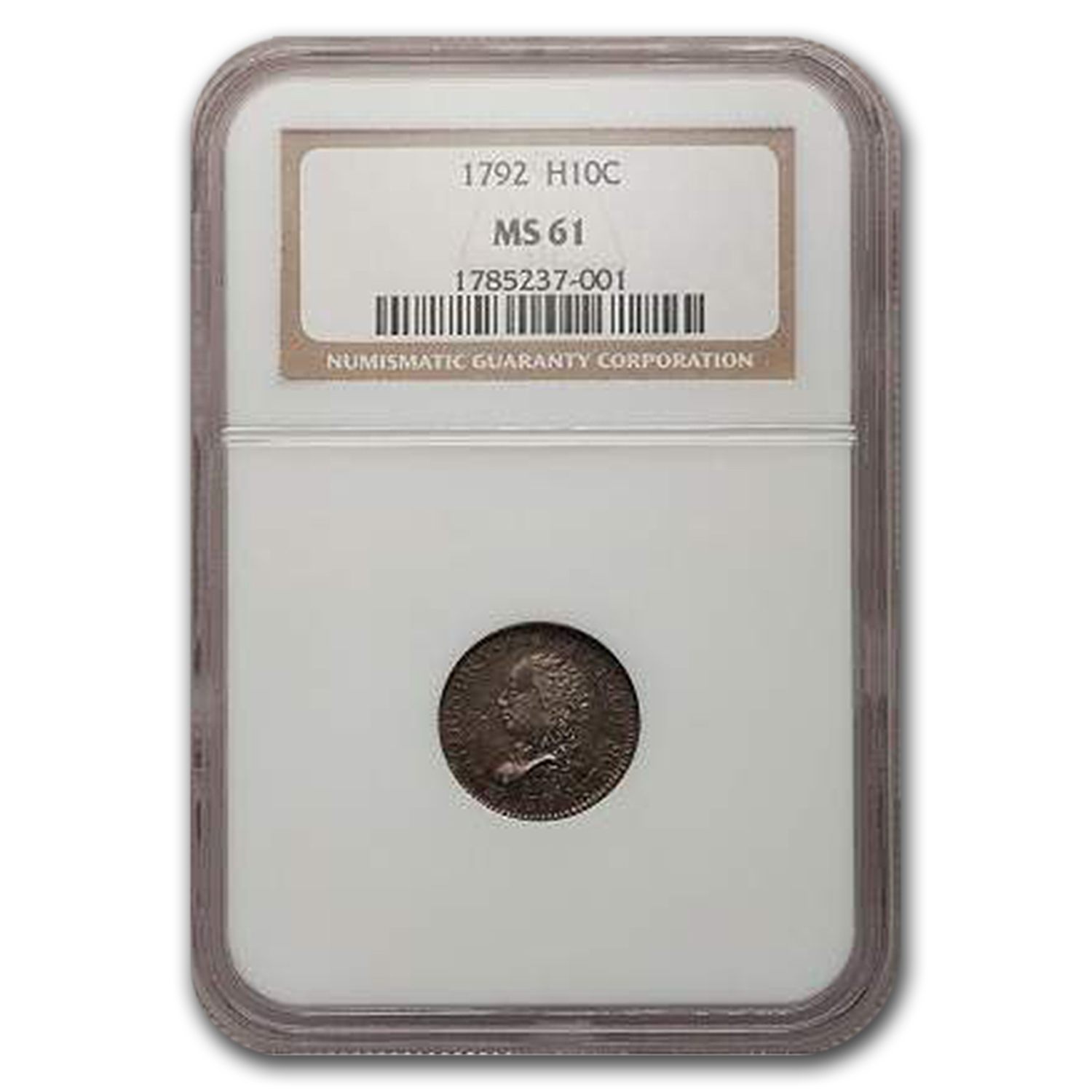 1792 Flowing Hair Half Dime MS-61 NGC