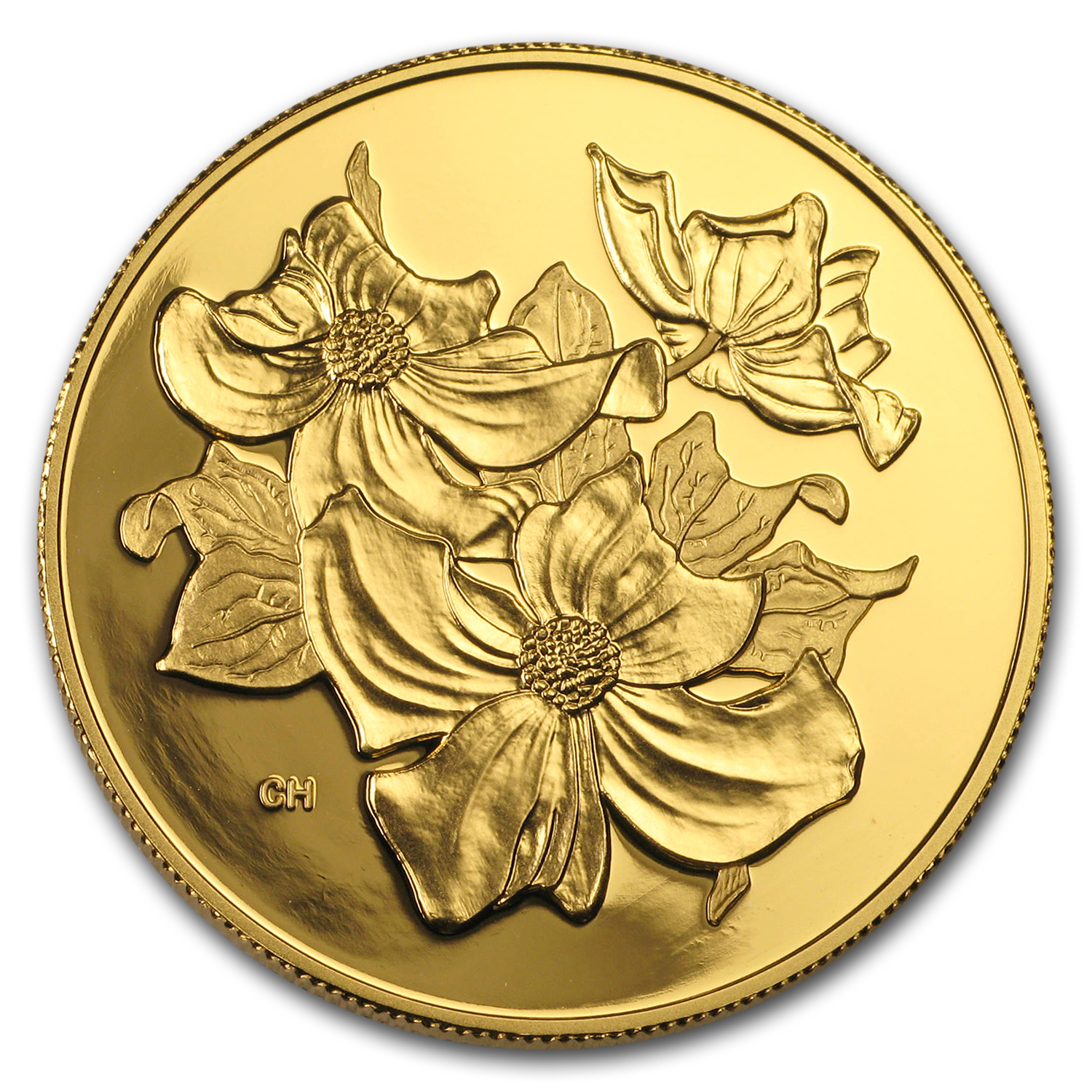 2000 Canada Gold $350 Pacific Dogwood Proof