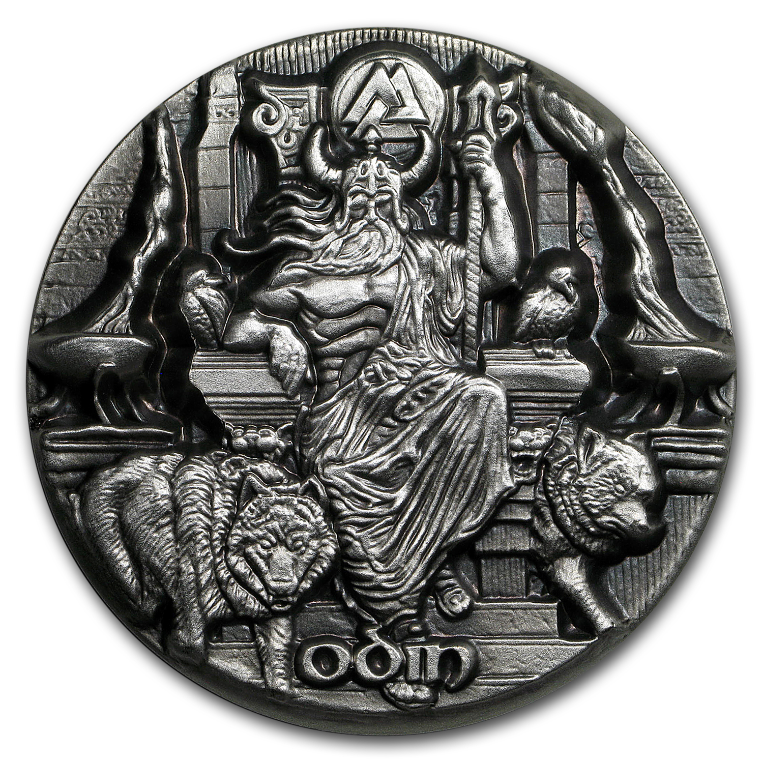 2016 Tokelau 3 Oz Silver Ultra High Relief Odin Silver