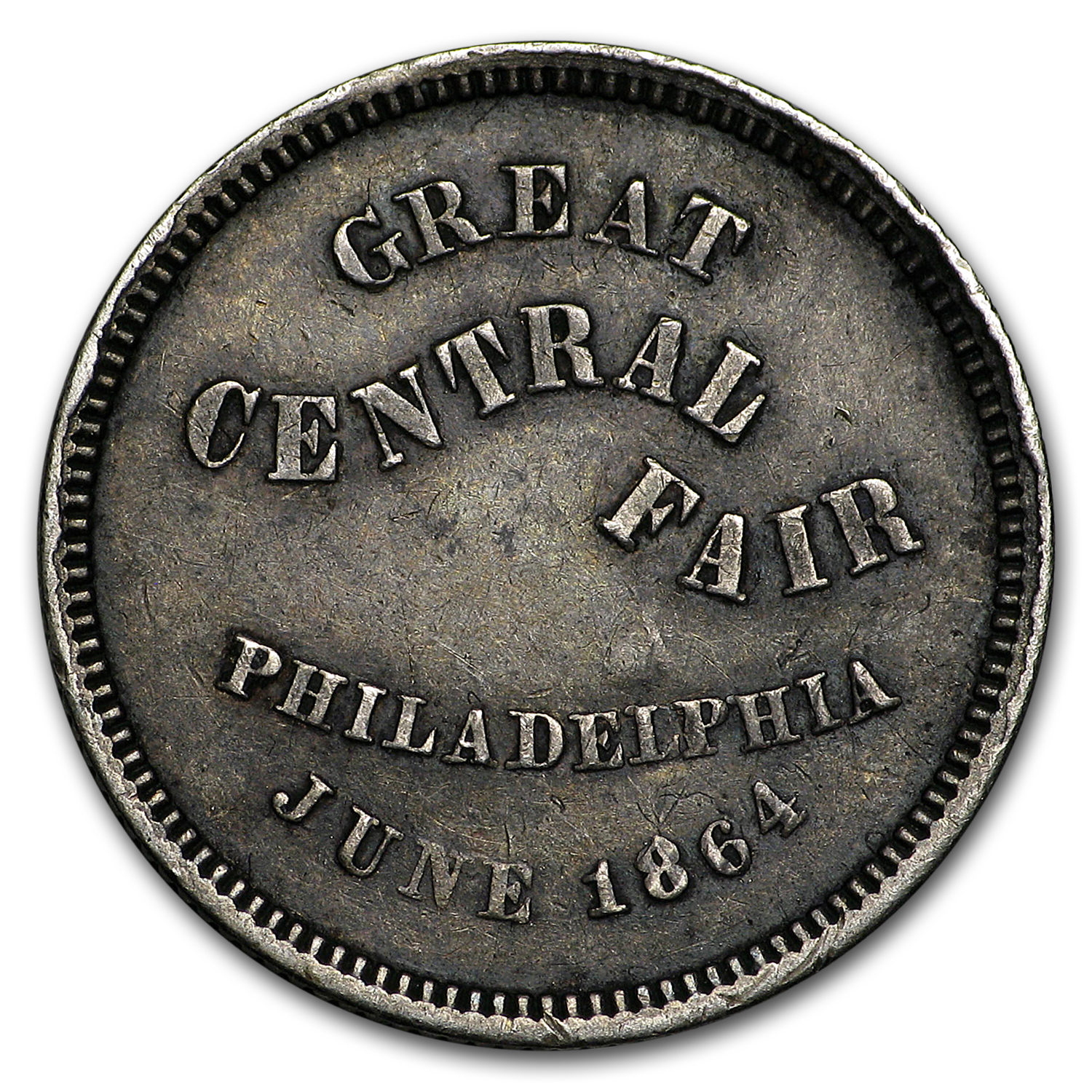 1864 Civil War Great Central Fair Token