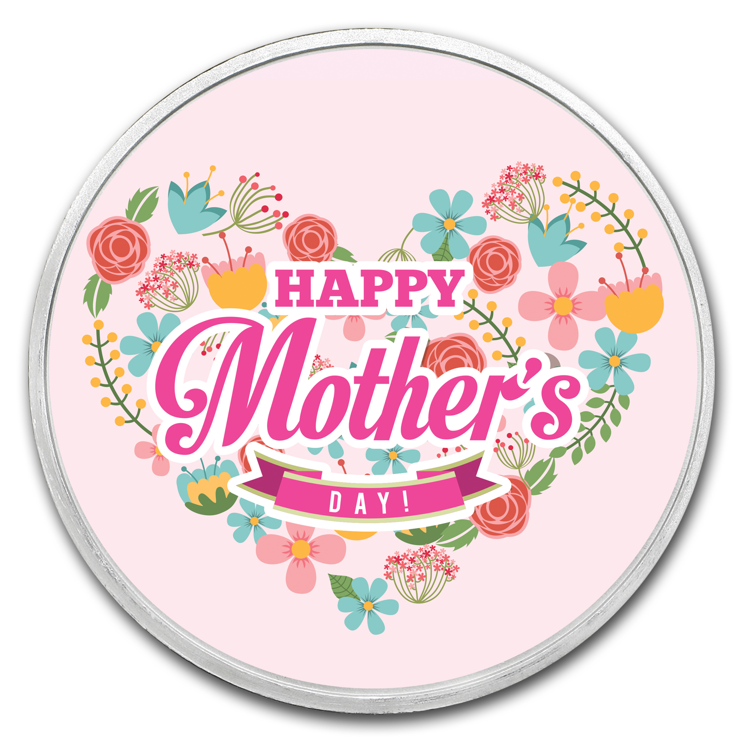 1 oz Silver Colorized Round - APMEX (Mother's Day - Love)