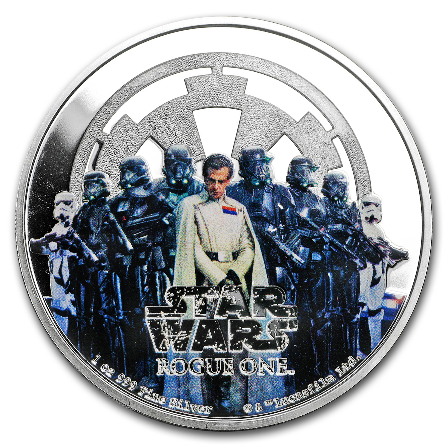 2017 Niue 1 oz Silver $2 Star Wars Rogue One Empire (Cap only)