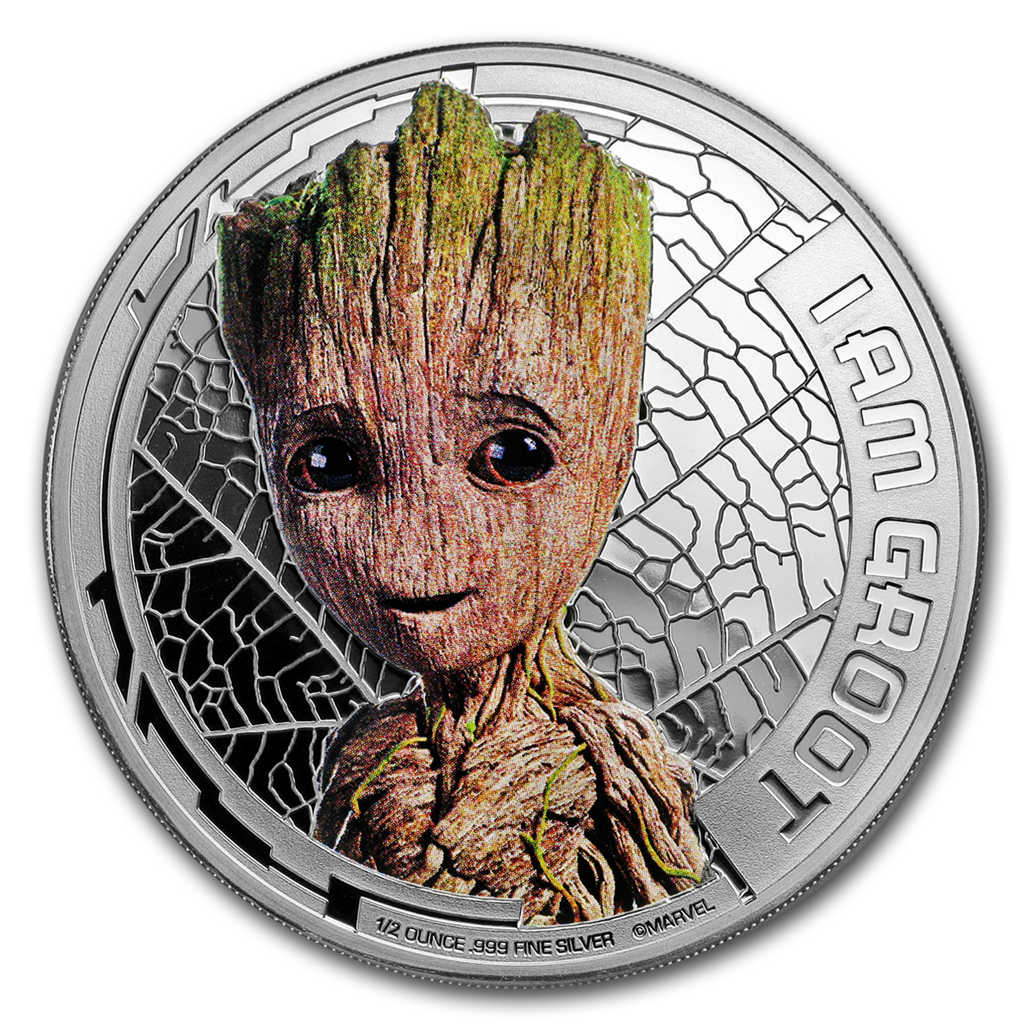 "2017 Cook Islands Ag ""Guardians of the Galaxy"" Groot (UHR)"