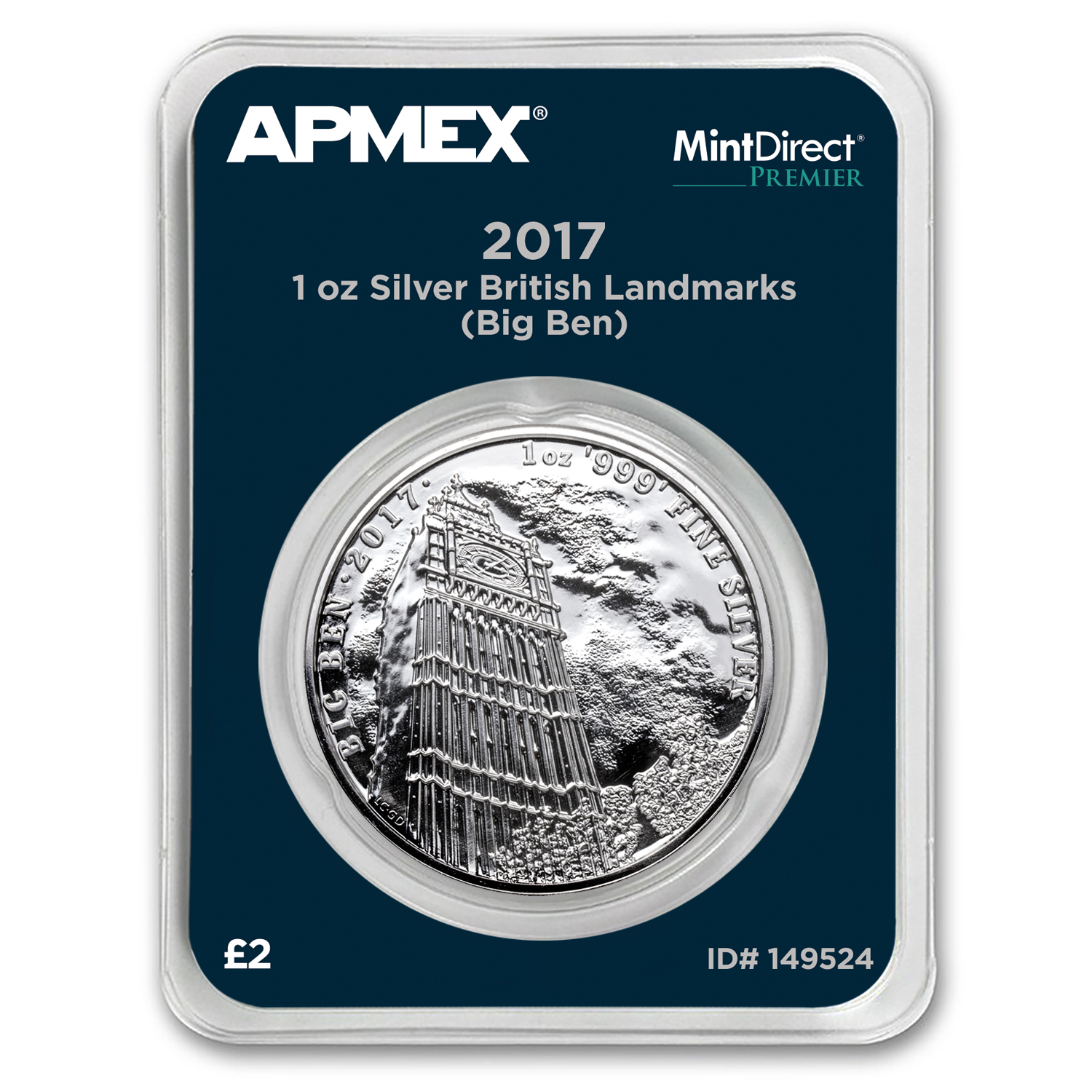 2017 1 oz Silver Landmarks of Britain Big Ben (MD® Premier)