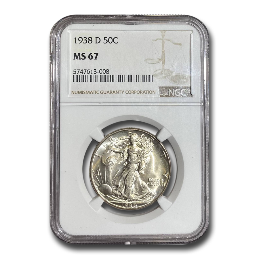 1938-D Walking Liberty Half Dollar MS-67 NGC