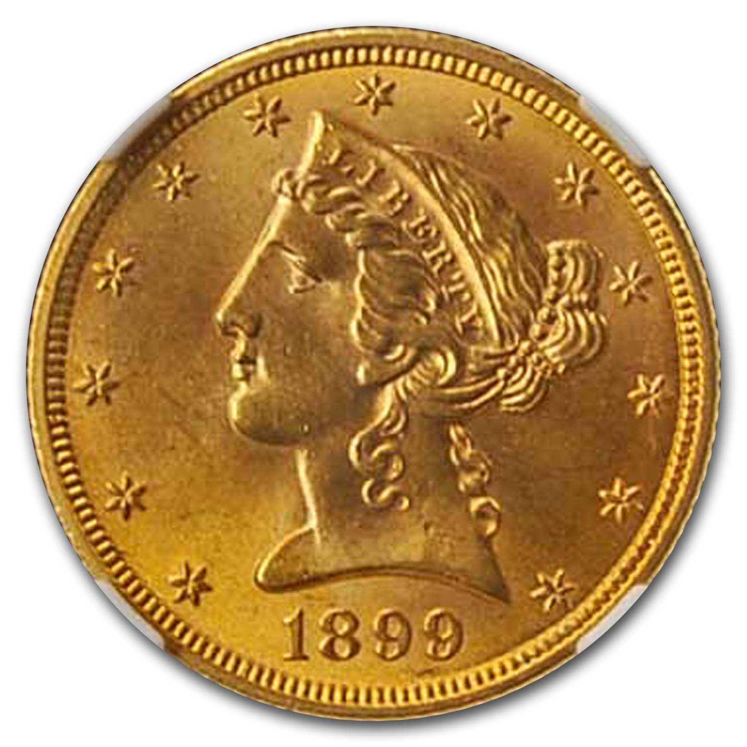 1899 $5 Liberty Gold Half Eagle MS-65+ NGC