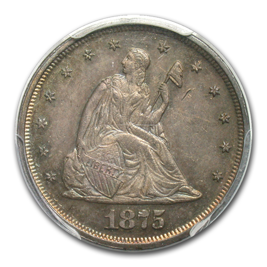 1875 Twenty Cent Piece PR-63 PCGS