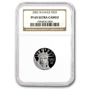 2002-W 1/4 oz Proof Platinum American Eagle PF-69 NGC