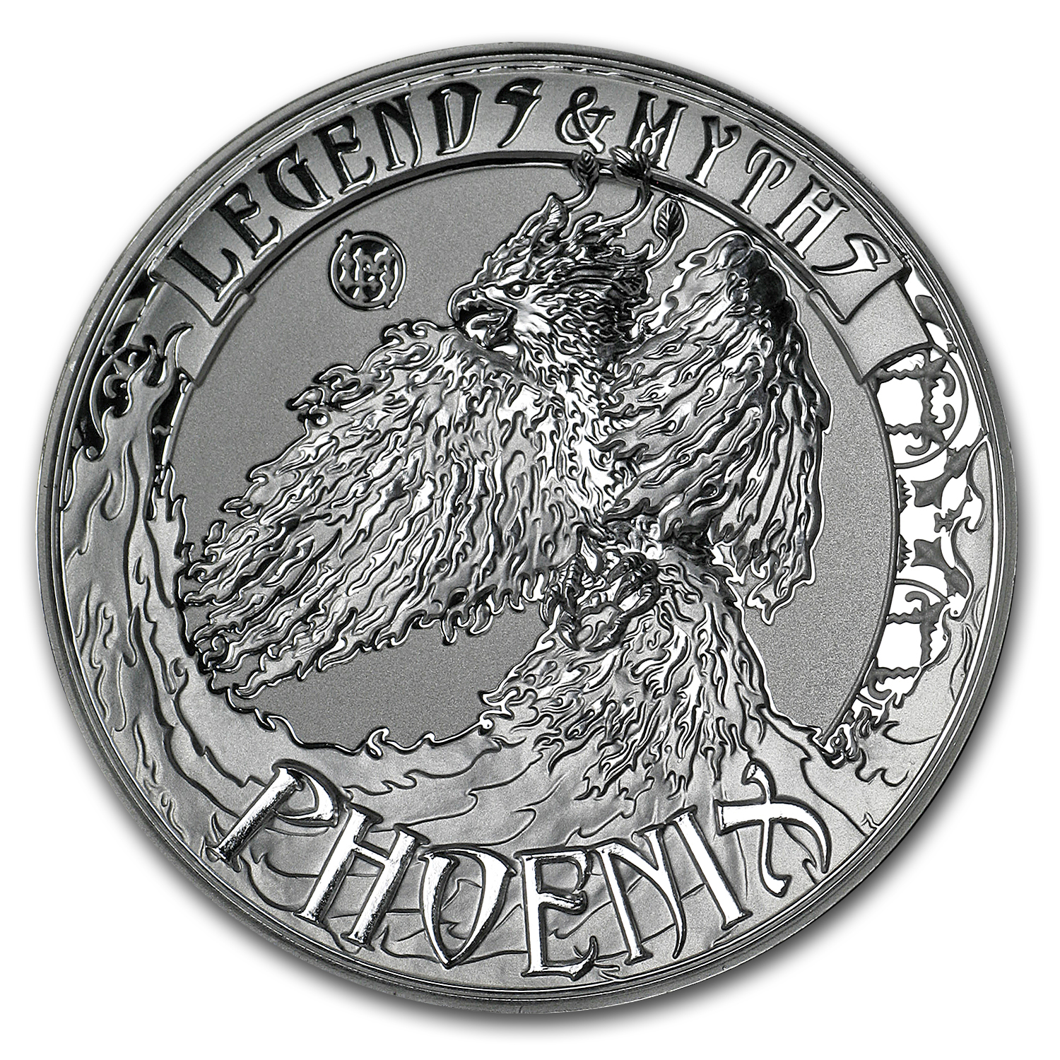2017 Solomon Islands 2 oz Silver Rev Prf Legends & Myths: Phoenix