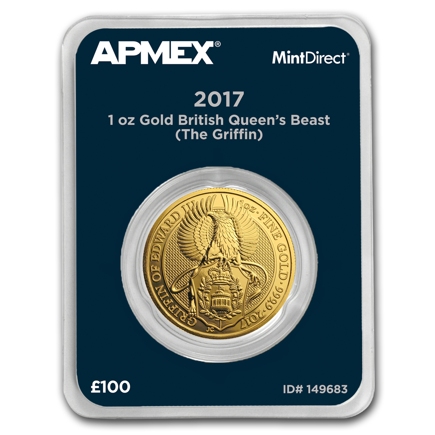 2017 GB 1 oz Gold Queen's Beasts The Griffin (MintDirect® Single)