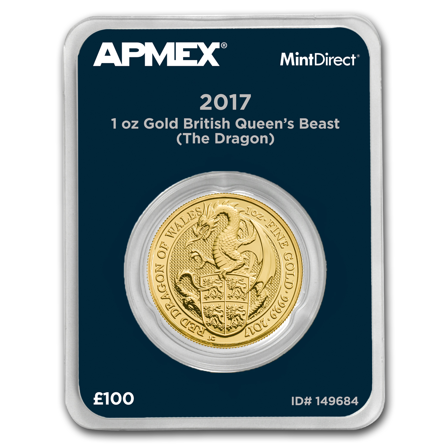 2017 GB 1 oz Gold Queen's Beasts The Dragon (MintDirect® Single)