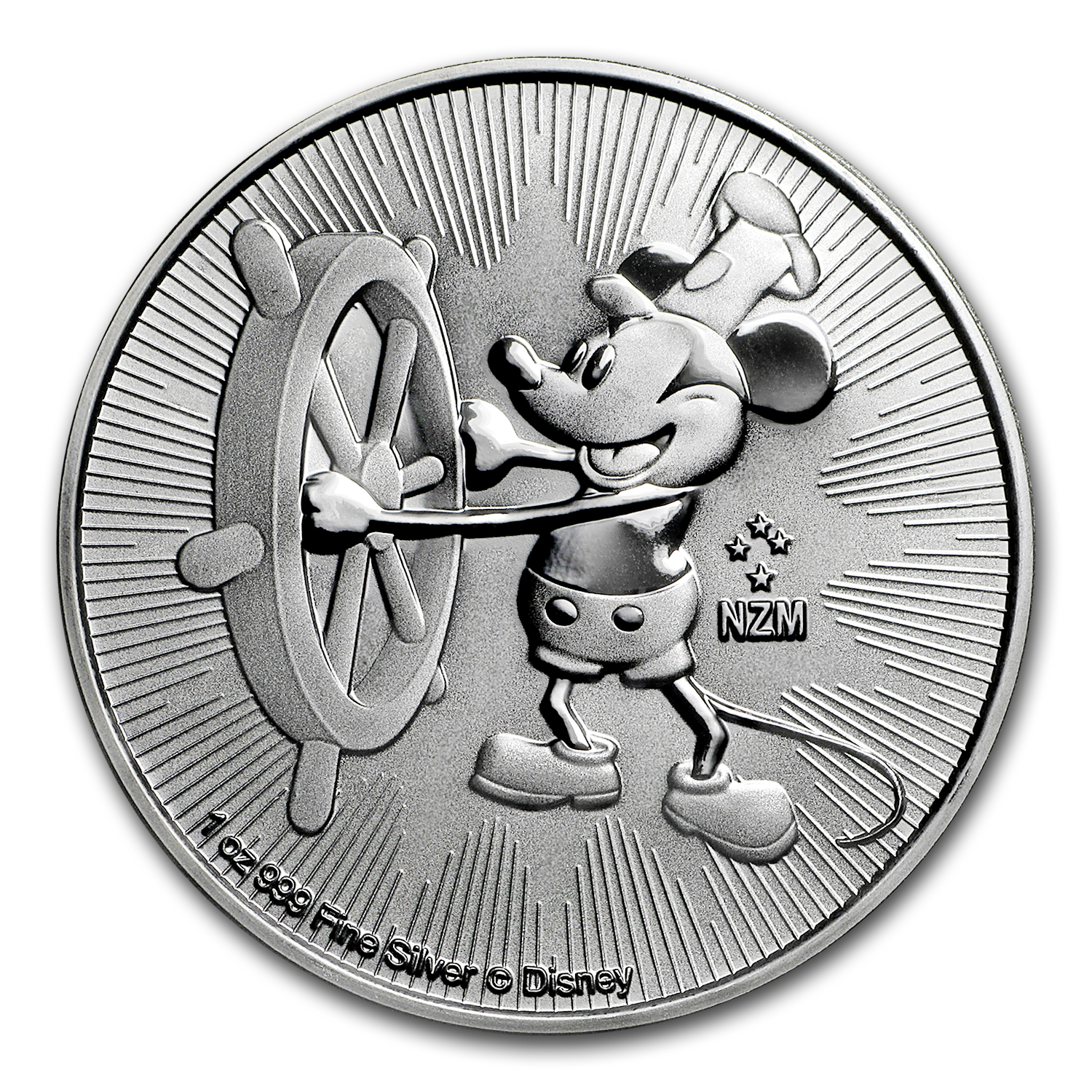 2017 Niue 1 oz Silver $2 Steamboat Willie (MintDirect® Single)