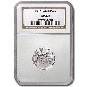 1997 1/4 oz Platinum American Eagle MS-69 NGC