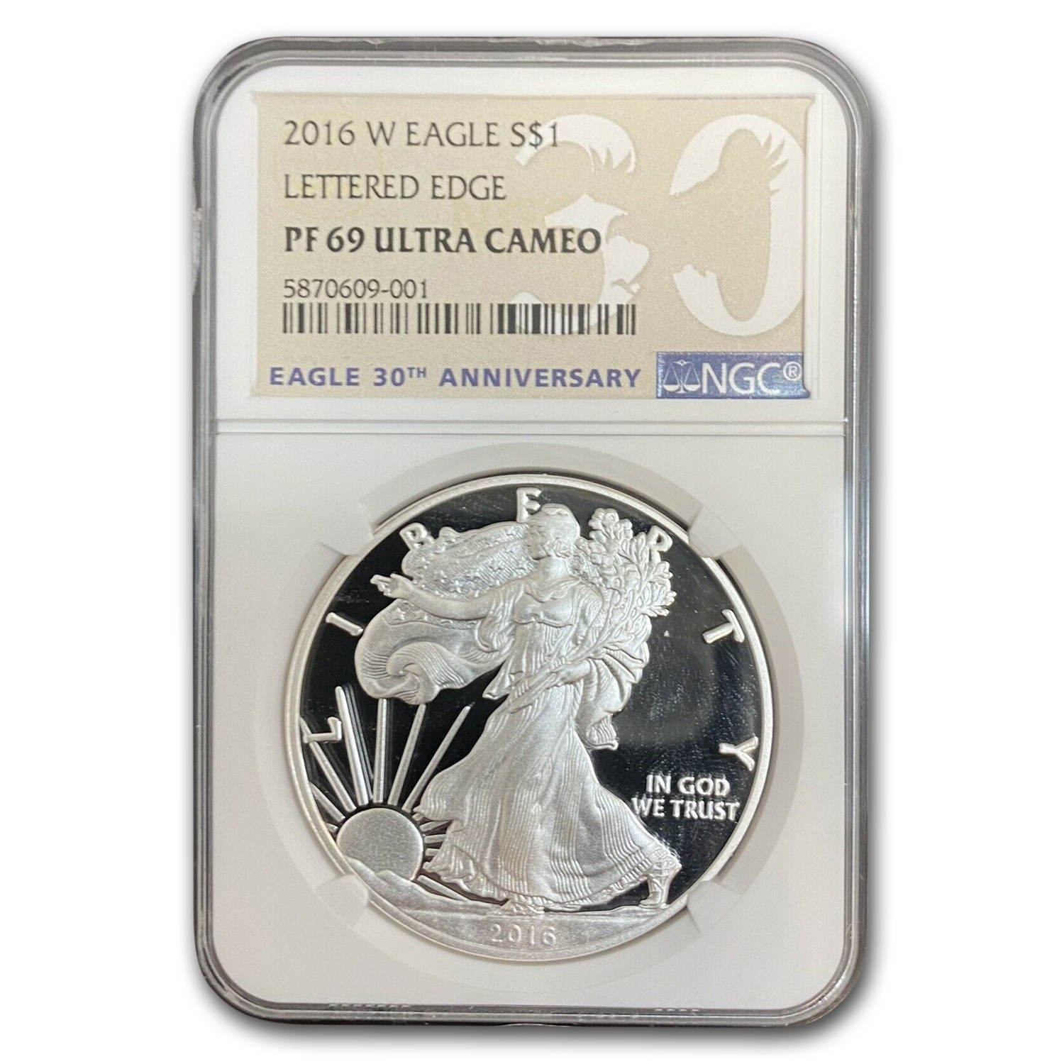 2016-W Proof Silver American Eagle PF-69 NGC