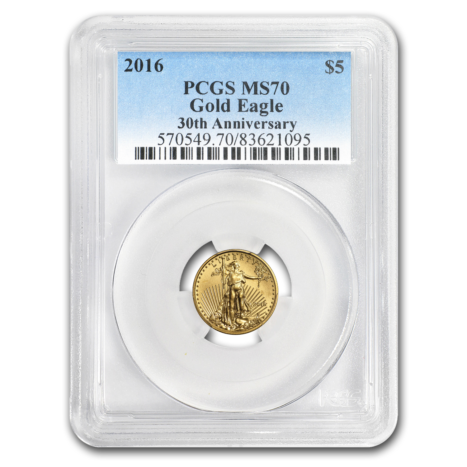 2016 1/10 oz Gold American Eagle MS-70 PCGS
