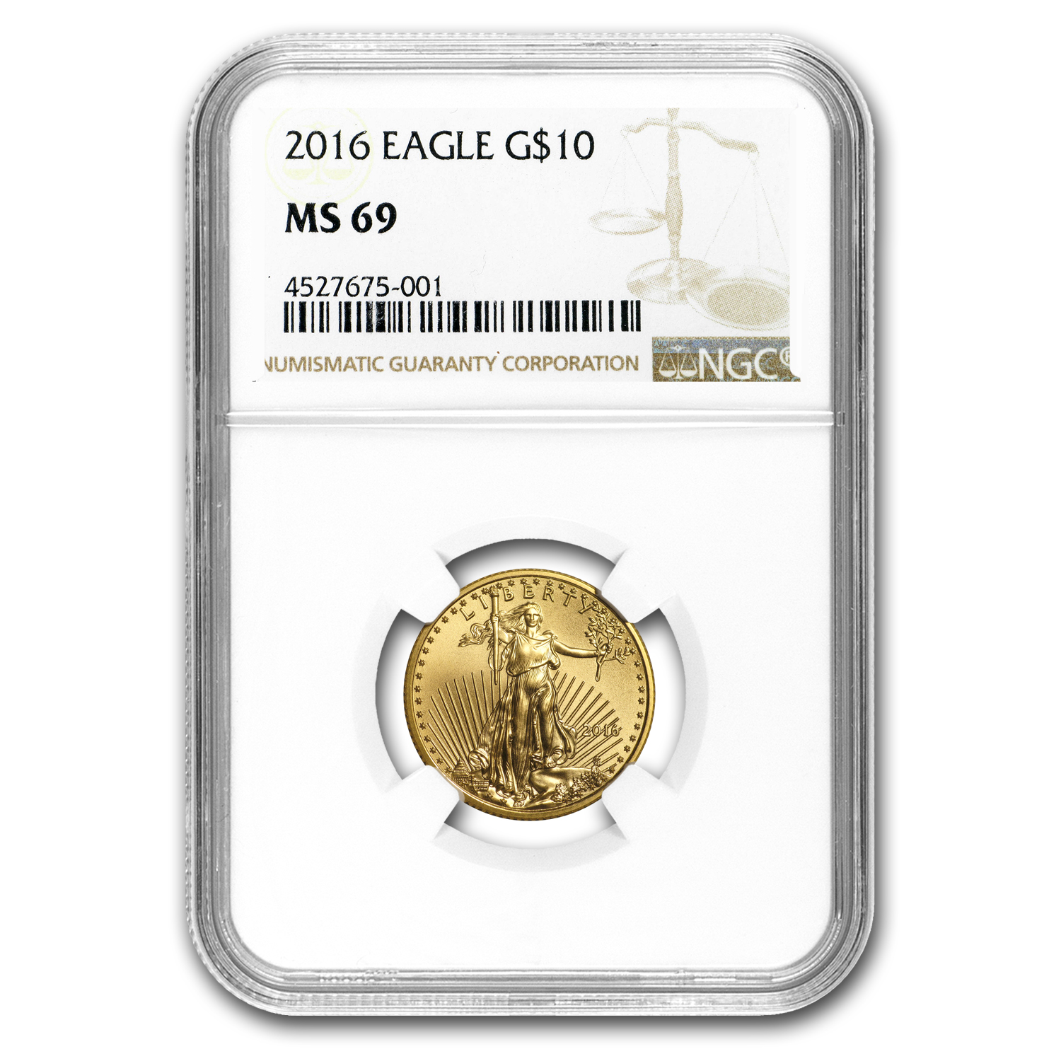 2016 1/4 oz Gold American Eagle MS-69 NGC