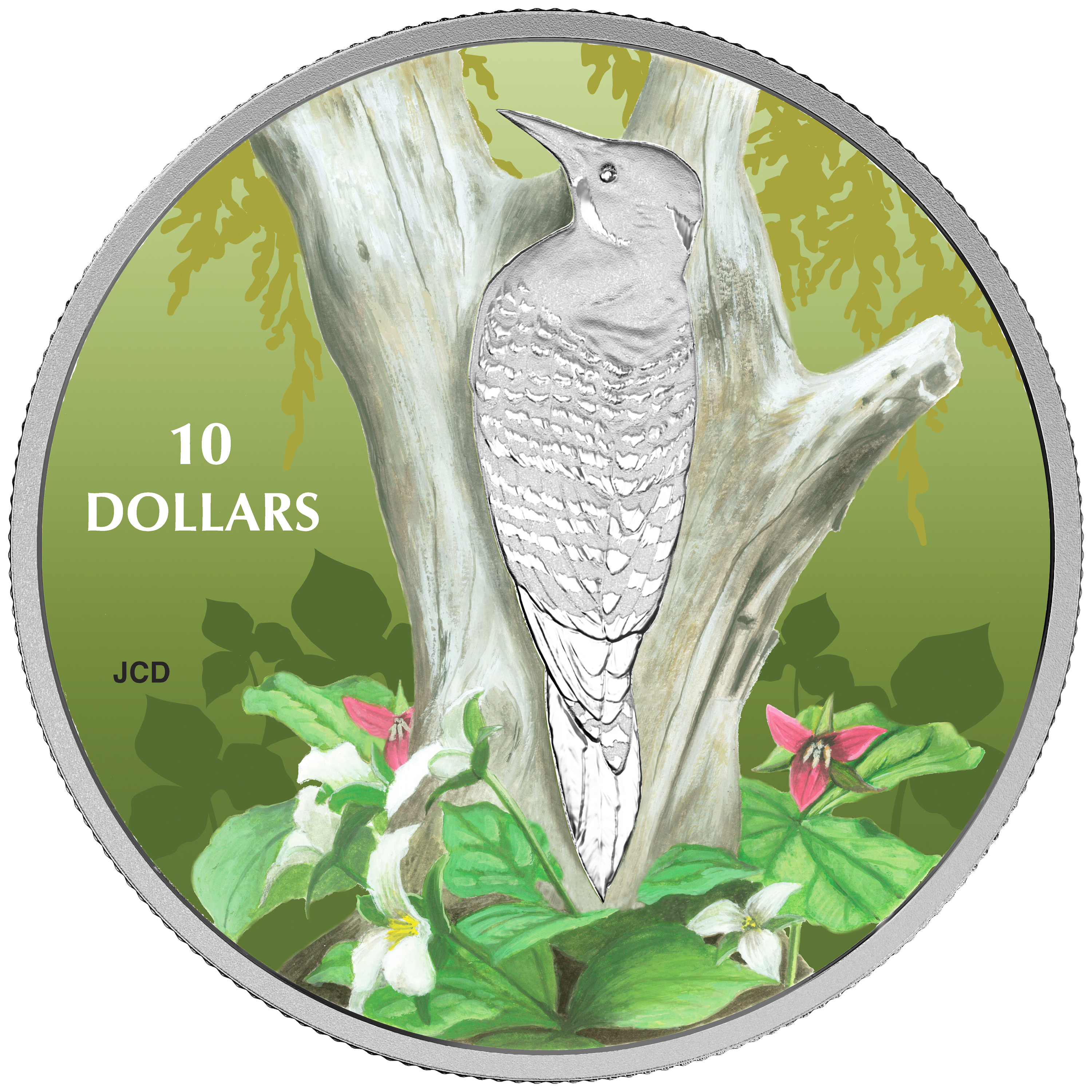 2017 Canada 1/2 oz Ag $10 Birds Among Nature's Colors: Flicker