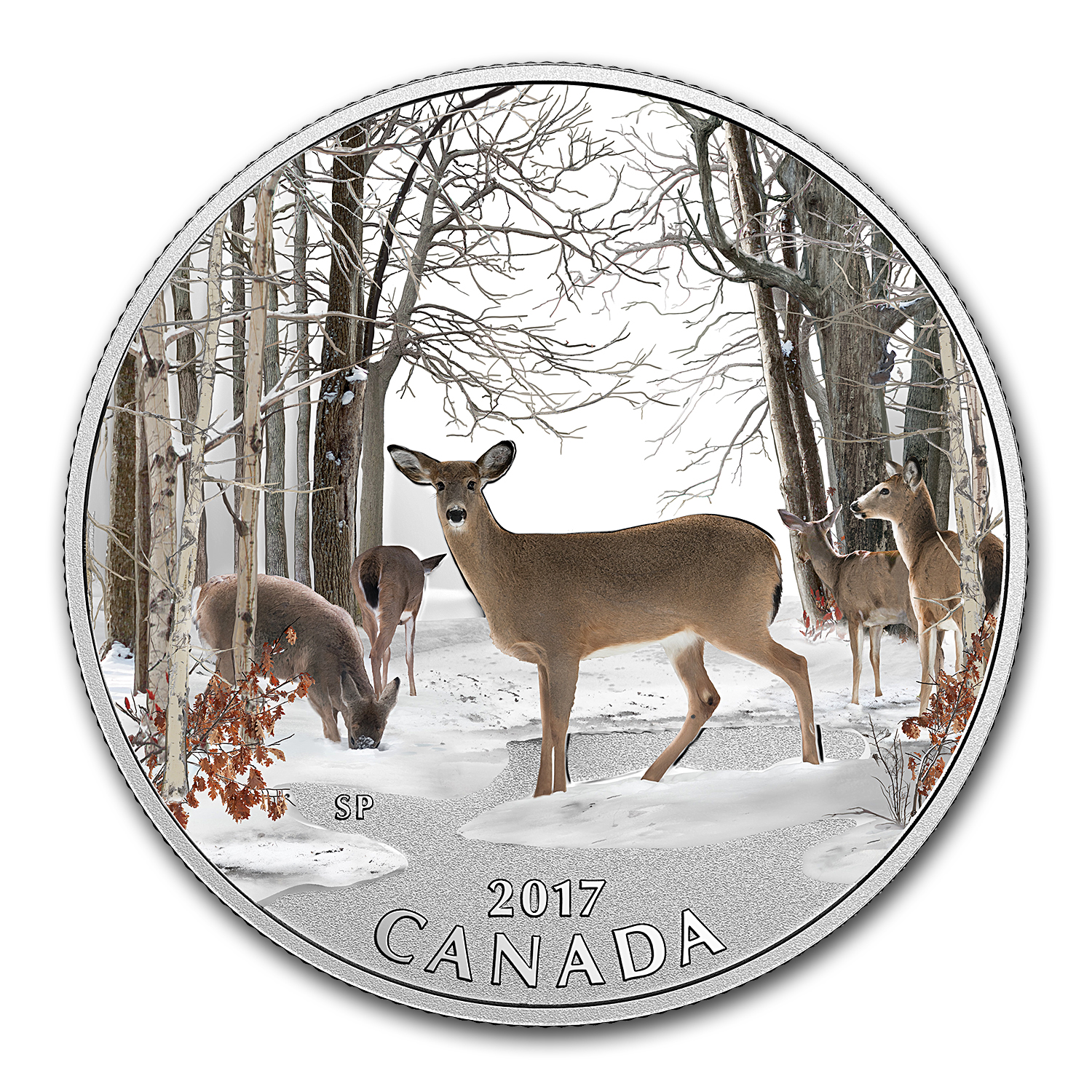 2017 Canada 1/2 oz Silver $10 Spring Sightings: Deer